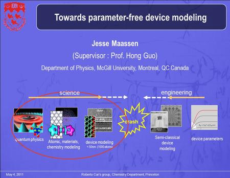 Towards parameter-free device modeling