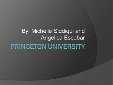 By: Michelle Siddiqui and Angelica Escobar. Location and Founding Year  Princeton is located in Princeton, New Jersey.  It was established in 1746.