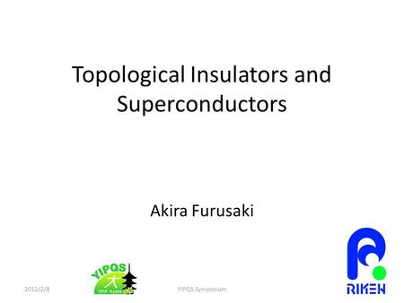 Topological Insulators and Superconductors