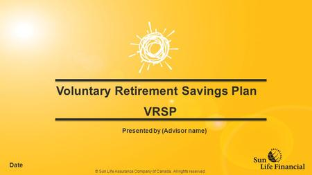 Voluntary Retirement Savings Plan VRSP