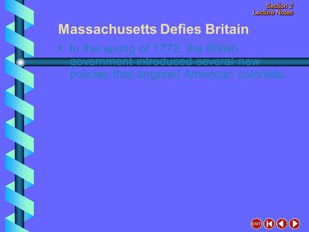 Massachusetts Defies Britain