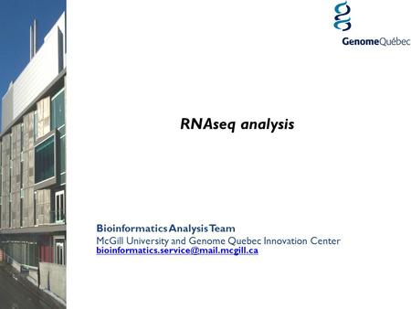 RNAseq analysis Bioinformatics Analysis Team