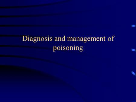 Diagnosis and management of poisoning. Agents involved in poisoning: National Poisons Information Service (NPIS) enquiries.