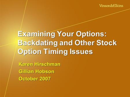 What is backdating stock options