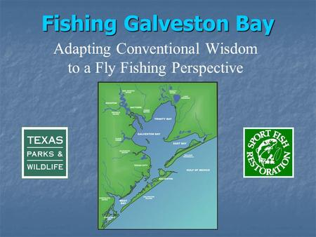 Fishing Galveston Bay Adapting Conventional Wisdom to a Fly Fishing Perspective.