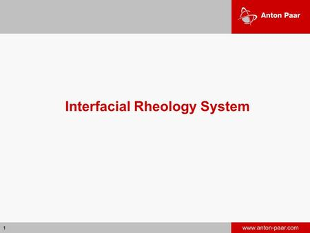 Interfacial Rheology System