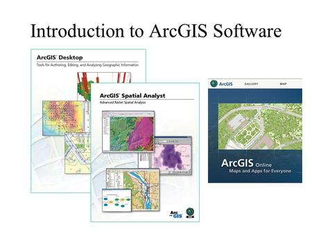 Introduction to ArcGIS Software. David Arctur, Michael Zeiler, ESRI Press, 2004 Michael Zeiler, ESRI Press, 2010 Reference Books: