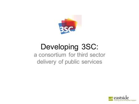 Developing 3SC: a consortium for third sector delivery of public services.
