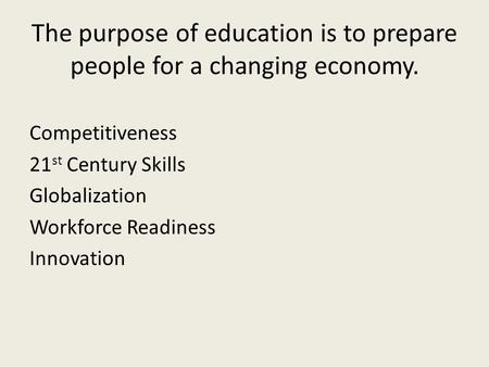"""preparing for changing economy  sectors explore innovative solutions to preparing youth for disrupted economy   """"automation and technology are radically changing the skills."""