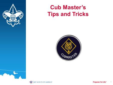 1 Cub Master's Tips and Tricks. To be a successful Cub Master you need to: –Be Enthusiastic –Be Organized –Be Trained –Have lots of Help.
