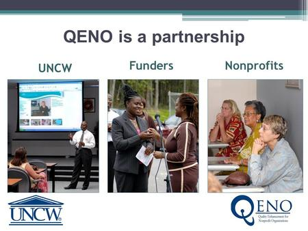 QENO is a partnership UNCW NonprofitsFunders What is all the quack about QENO? Well, we've got answers… You may be wondering…