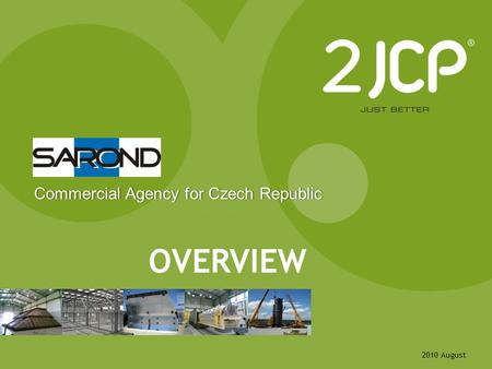 2010 August OVERVIEW Commercial Agency for Czech RepublicCommercial Agency for Czech Republic.
