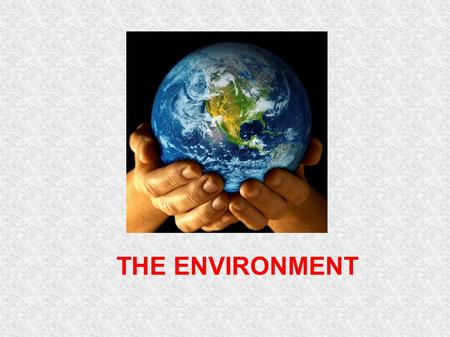 THE ENVIRONMENT. Saving the planet Discuss the environmental problem shown below. Use the vocabulary prompts to make sentences. DEFORESTATION cut down.