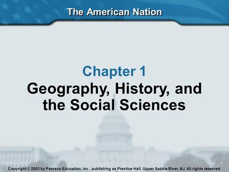Geography, History, <strong>and</strong> the Social Sciences
