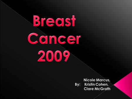  Breast cancer is where malignant (harmful) cells are found in the breast tissue. This can happen to males and females.  Worldwide, breast cancer is.