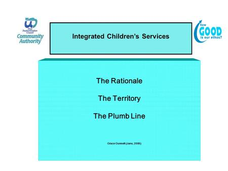 Integrated Children's Services The Rationale The Territory The Plumb Line Grace Gunnell (June, 2005)