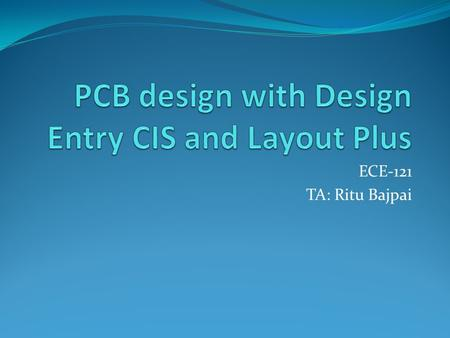 PCB design with Design Entry CIS and Layout Plus