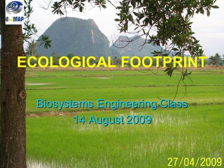 Biosystems Engineering Class 14 August 2009
