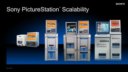Sony PictureStation ™ Scalability. Counter Top PictureStation ™