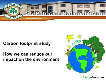 Carbon footprint study How we can reduce our impact on the environment CarbonDecisions.