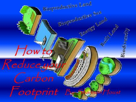 How to Reduce your Carbon Footprint By: Shannon Houst.