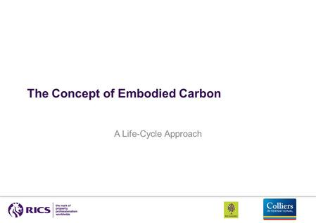 The Concept of Embodied Carbon A Life-Cycle Approach.