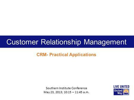 customer relationship management conference 2012