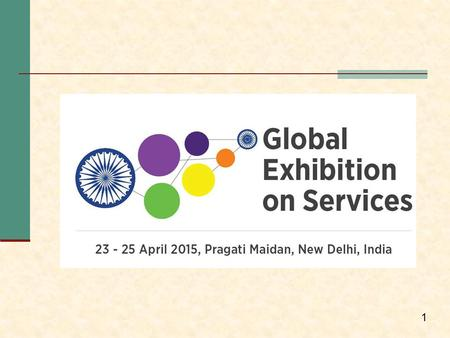 1. Global Exhibition on Services (GES) The Government of India, Ministry of Commerce and Industry in association with Confederation of Indian Industry.