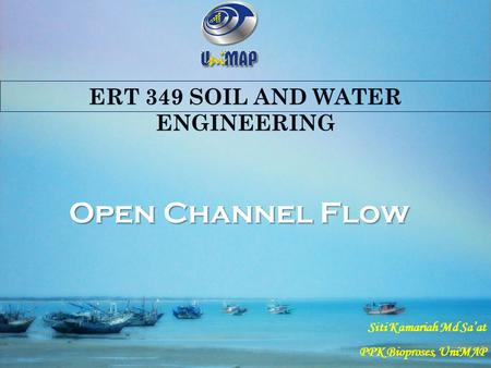 Open Channel Flow Part 2 (cont)