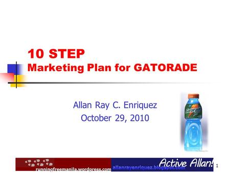10 STEP Marketing Plan for GATORADE