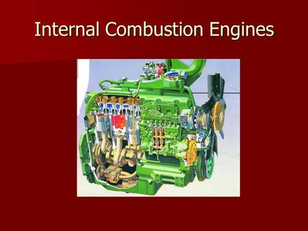 Internal Combustion Engines. Ideal Diesel Cycle Ideal Diesel Cycle.
