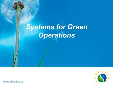 Systems for Green Operations. Management of Aircraft Energy SGO Technology Development & Validation of Electrical Aircraft Systems Stakeholders ► Management.