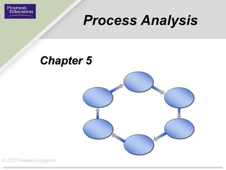 © 2007 Pearson Education Process Analysis Chapter 5.