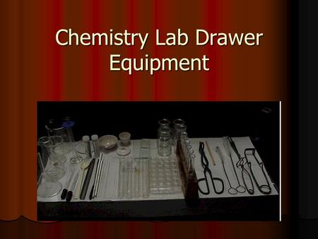 Chemistry Lab Drawer Equipment. Chemistry Lab Drawer Beakers Beakers.