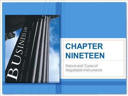 Nature and Types of Negotiable Instruments