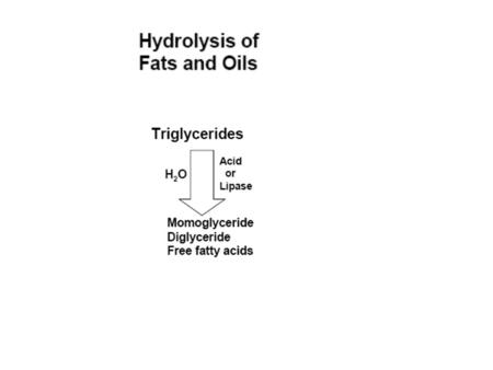 Enzymatic Hydrolysis Hydrolases - ubiquitous presence of hydrolases in foodstuffs - extremely important mechanism of introducing sensory alteration in.