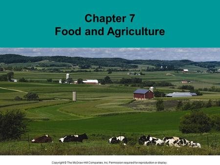 Chapter 7 Food and Agriculture