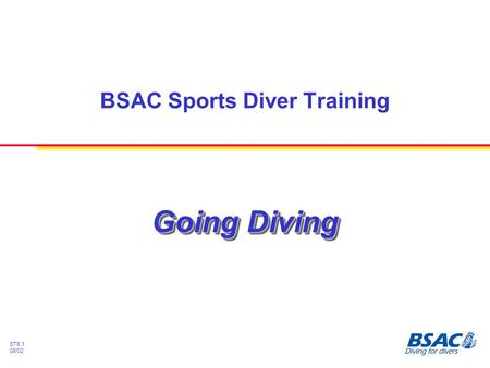 ST6.1 08/02 Going Diving BSAC Sports Diver Training.
