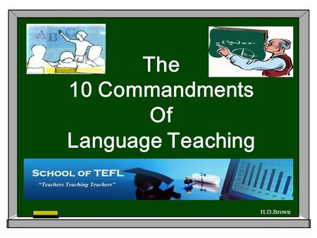 The 10 Commandments Of Language Teaching