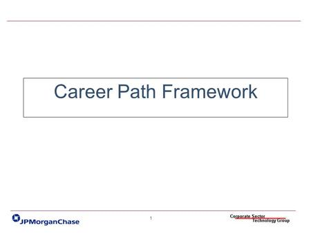 Career Path Framework.
