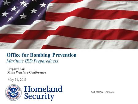Office for Bombing Prevention Maritime IED Preparedness