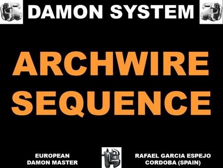 ARCHWIRE SEQUENCE DAMON SYSTEM EUROPEAN DAMON MASTER