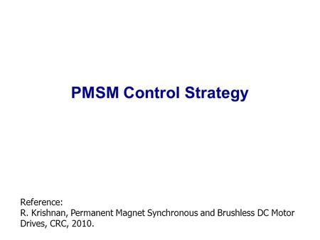 Pmsm control thesis