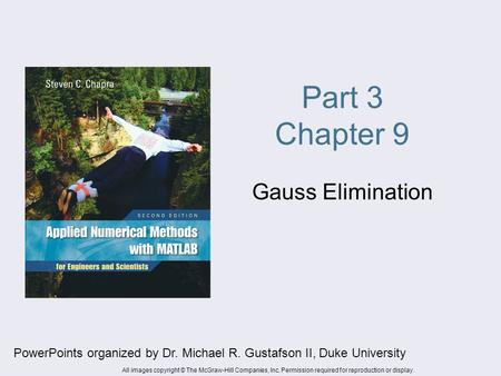 Part 3 Chapter 9 Gauss Elimination