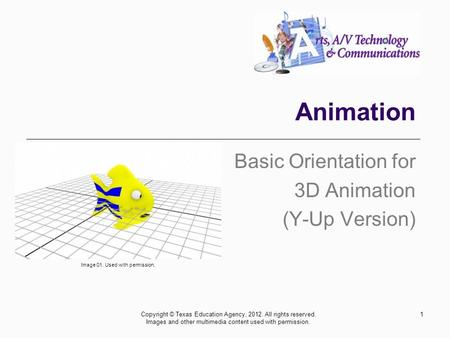 Basic Orientation for 3D Animation (Y-Up Version)