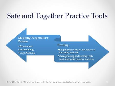 Safe and Together Practice Tools