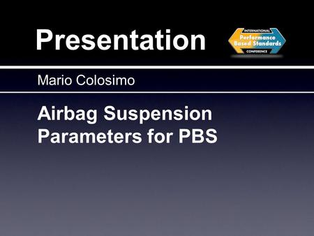 Airbag Suspension Parameters for PBS