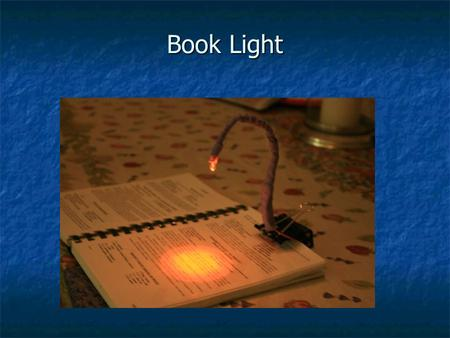 Book Light. Light Emitting Diode 2 - AAA Batteries Push Button Switch Circuit Diagram.