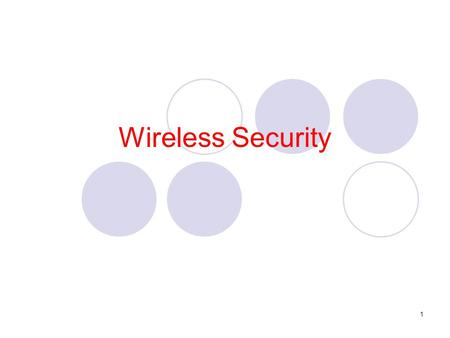 1 Wireless Security. 2 Why Wireless is not secure ? Wireless LANs are inherently insecure because they transmit data as electromagnetic waves through.