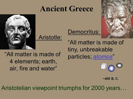 Ancient Greece Democritus: .